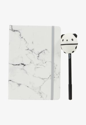 JOURNAL NOVELTY JOURNAL SLOTH PEN SET - Accessoires Sonstiges - marble with grey elastic