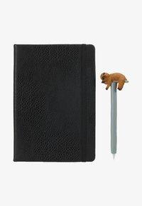 TYPO - JOURNAL NOVELTY JOURNAL SLOTH PEN SET - Accessoires - Overig - black - 1