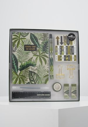 DOT JOURNAL GIFT SET - Accessorio - fern foliage dark ground