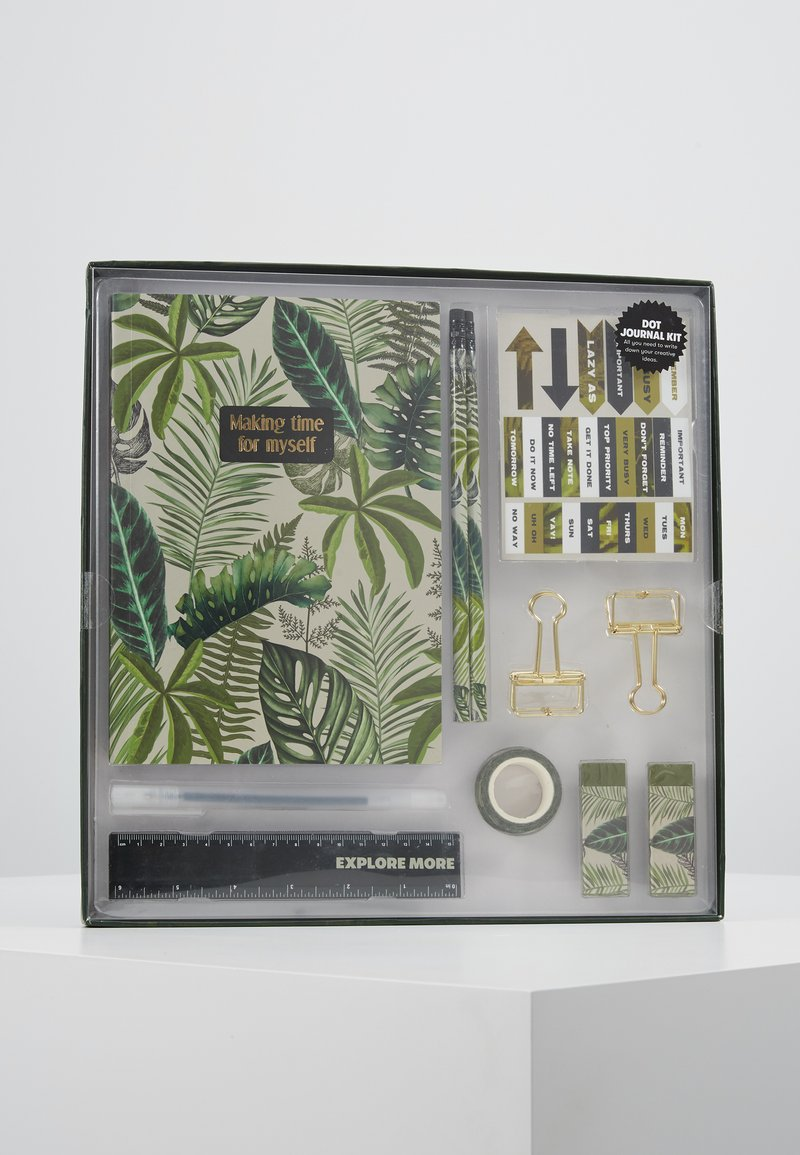 TYPO - DOT JOURNAL GIFT SET - Accessoires - Overig - fern foliage dark ground