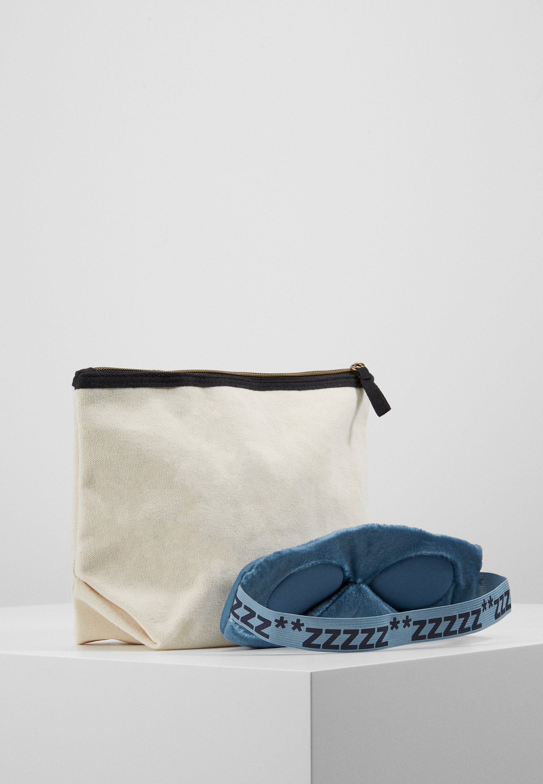 TYPO TRAVEL POUCH EYEMASK PACK SET - Trousse - offwhite