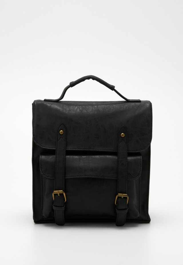 SATCHEL BACKPACK - Mochila - black