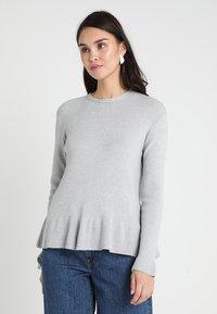 Uno Piu Uno - LESIA - Strickpullover - light grey - 0