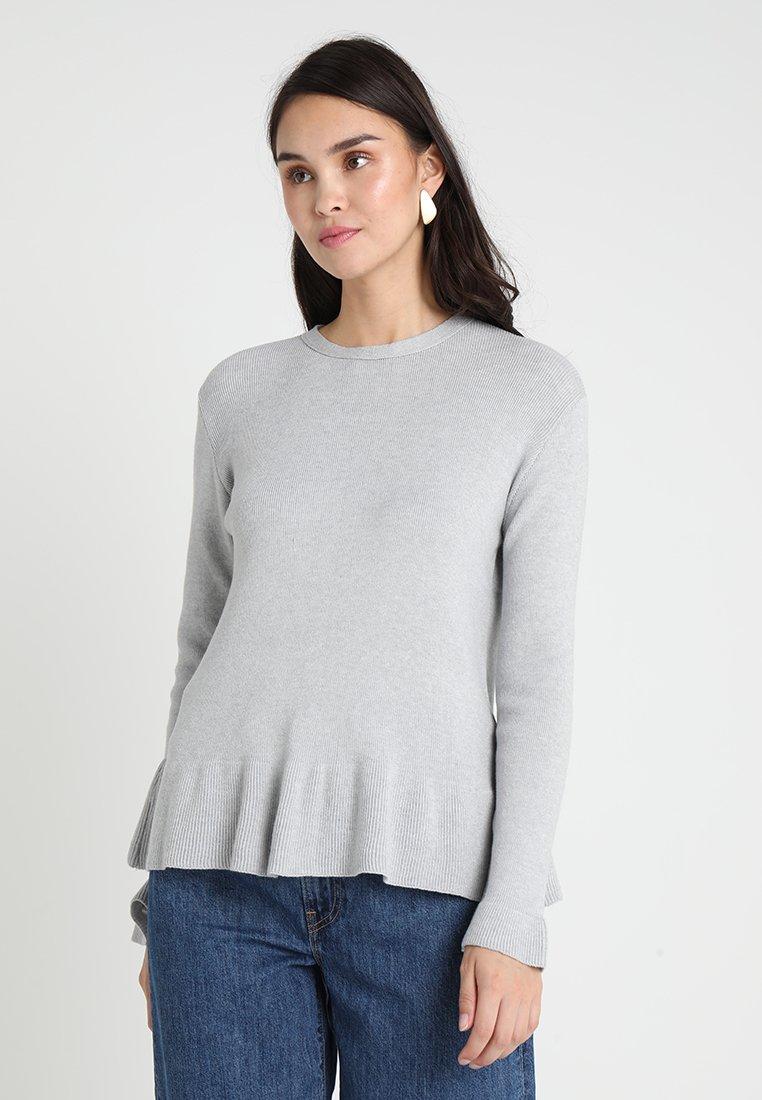 Uno Piu Uno - LESIA - Strikpullover /Striktrøjer - light grey