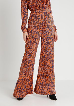 Broek - orange/blue