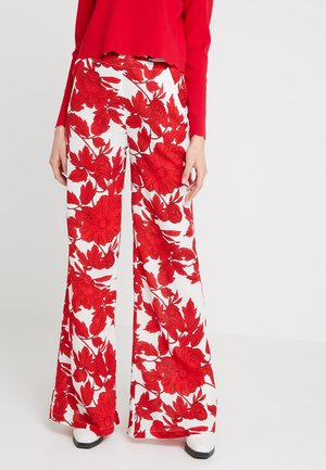 Pantalon classique - white/red