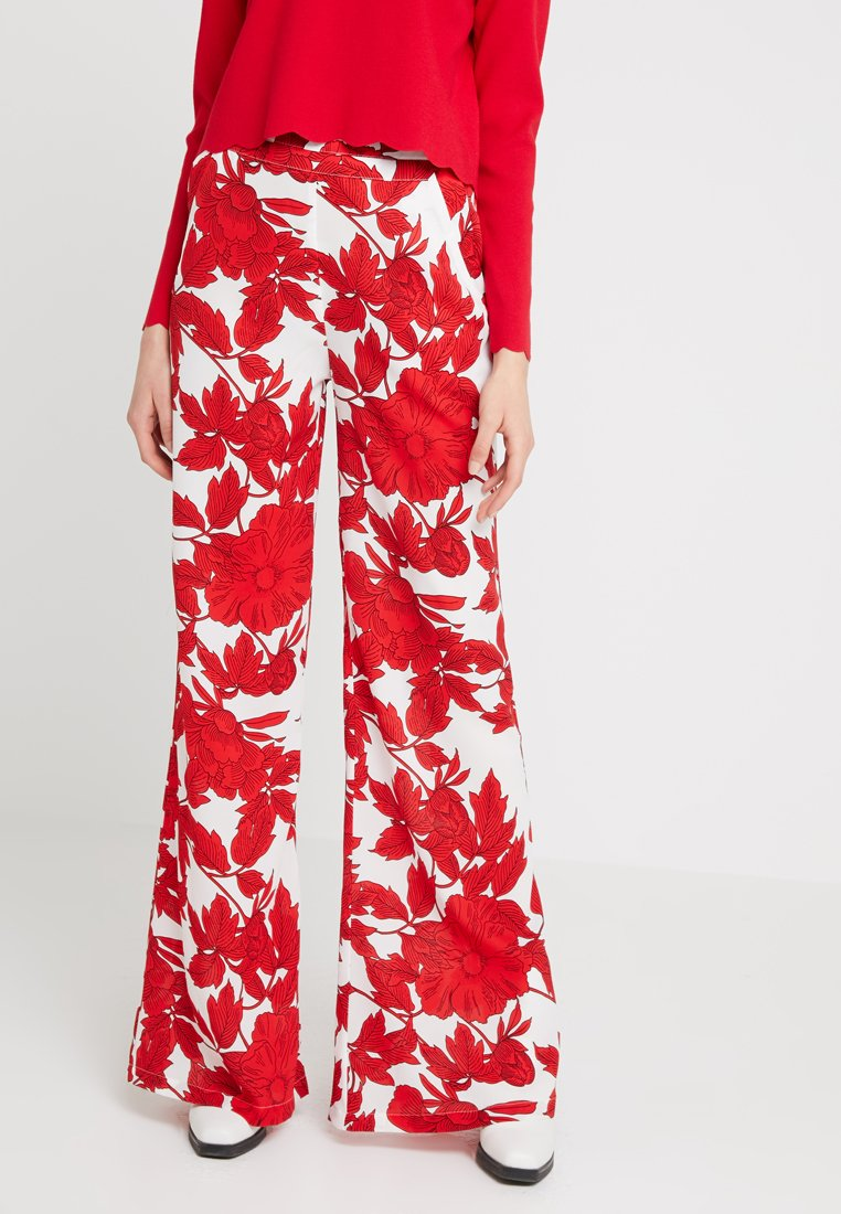 U Collection - Stoffhose - white/red