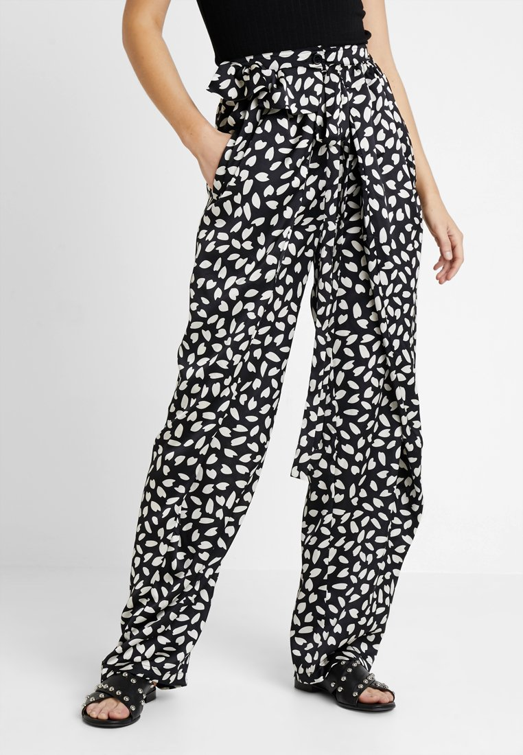 U Collection - Trousers - black/white