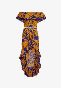 U Collection by Forever Unique - FLORAL - Vestito lungo - blue/orange - 4