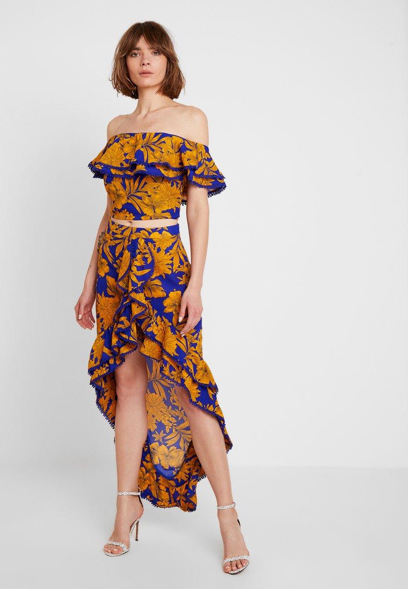 U Collection by Forever Unique - FLORAL - Vestito lungo - blue/orange
