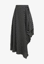 SPOT SKIRT - Maxi skirt - black/white