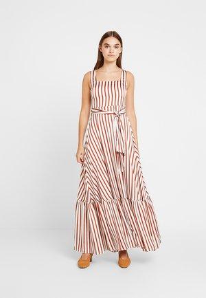 Maxiklänning - brown/white
