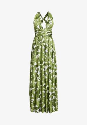 PALM DRESS - Maxi dress - white and green