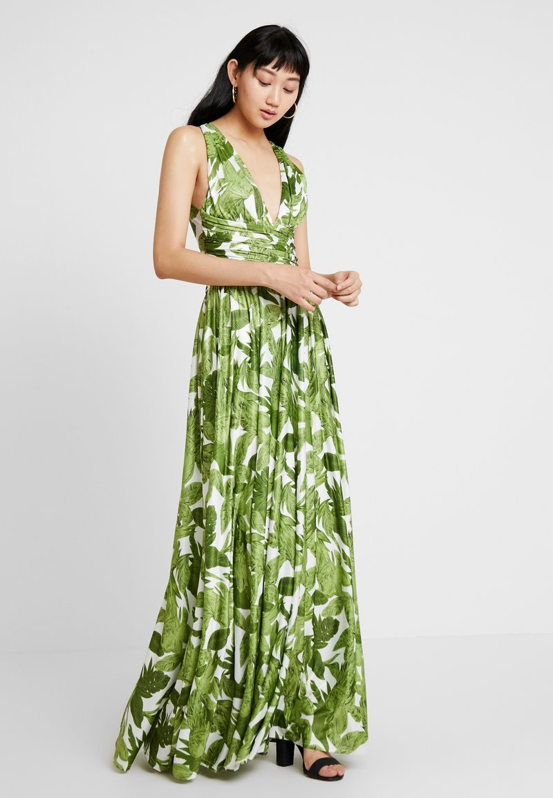 U Collection - PALM DRESS - Maxi dress - white and green