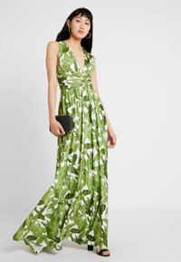 U Collection by Forever Unique - PALM DRESS - Maxi dress - white and green - 1