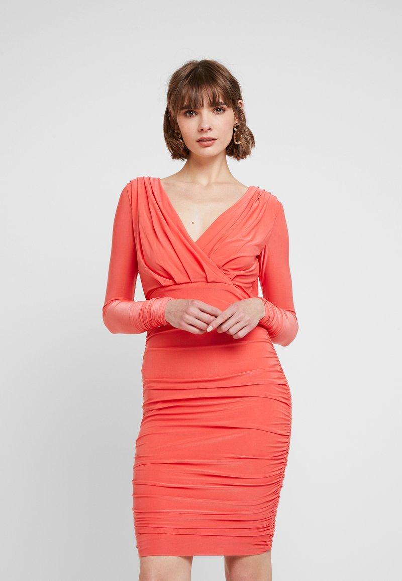 U Collection - MIDI DRESS - Shift dress - coral