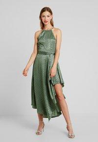 U Collection by Forever Unique - SPOT MIDI DRESS - Vestito elegante - green/silver - 0