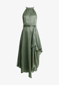 U Collection by Forever Unique - SPOT MIDI DRESS - Vestito elegante - green/silver - 4