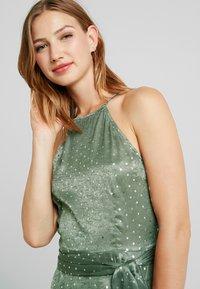 U Collection by Forever Unique - SPOT MIDI DRESS - Vestito elegante - green/silver - 3