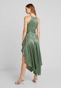 U Collection by Forever Unique - SPOT MIDI DRESS - Vestito elegante - green/silver - 2
