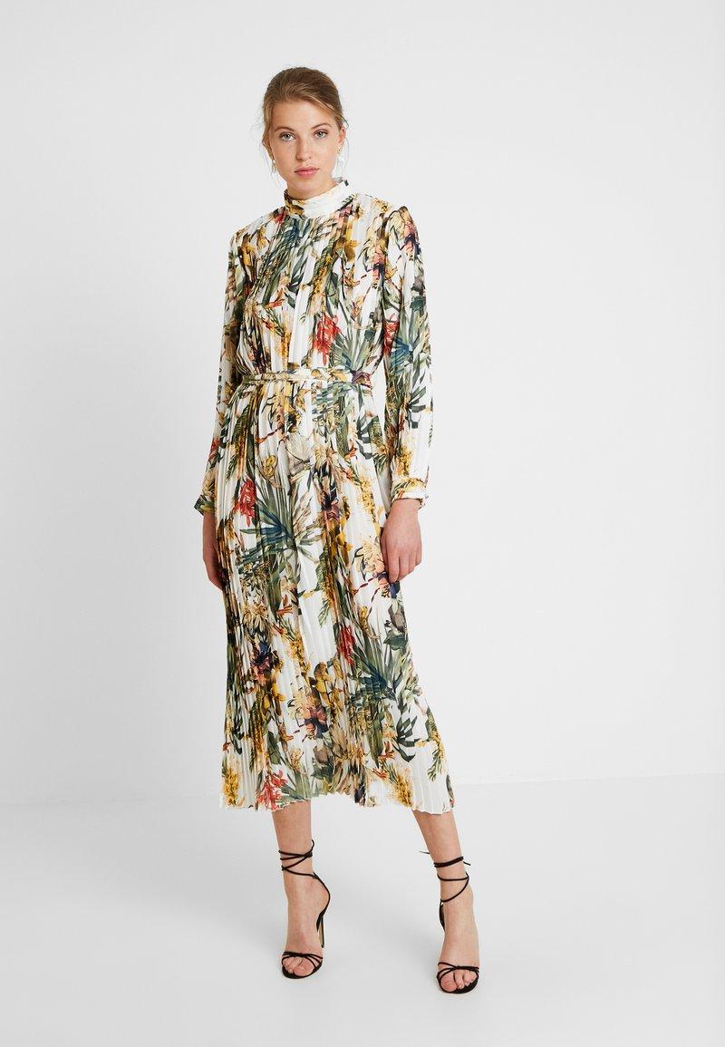 U Collection - PALM MIDI DRESS - Cocktail dress / Party dress - white