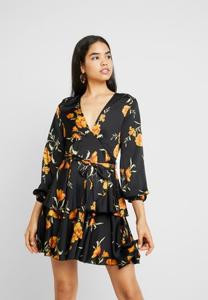 Vestido largo - black/yellow