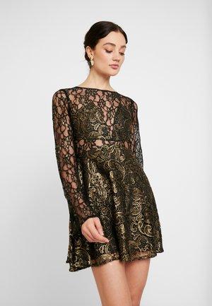 Koktejlové šaty/ šaty na párty - black/gold