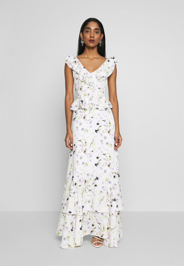 Festklänning - white/green floral