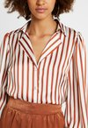 U Collection - Bluse - brown/white