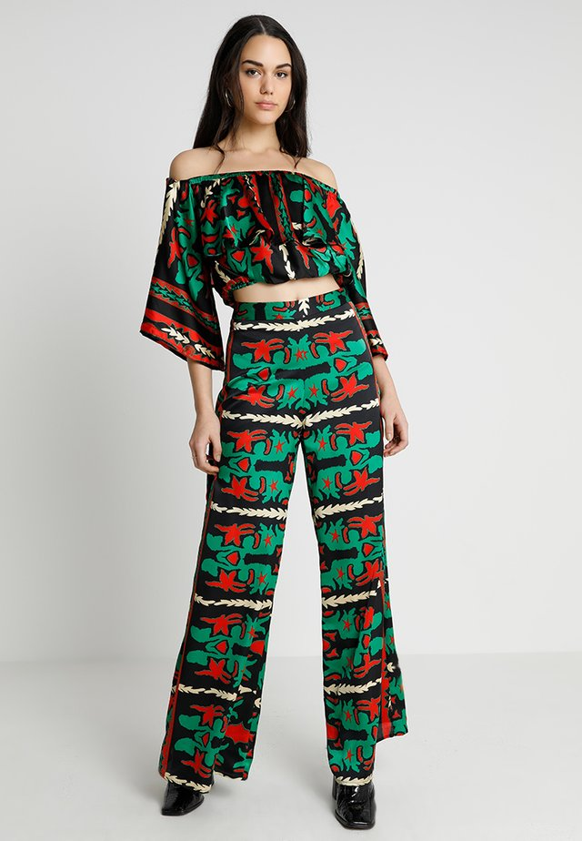 SET - Pantalon classique - green/red