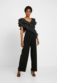U Collection by Forever Unique - Overall / Jumpsuit /Buksedragter - black/white - 0