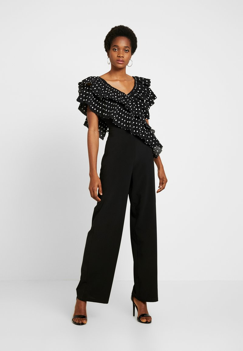 U Collection by Forever Unique - Overall / Jumpsuit /Buksedragter - black/white