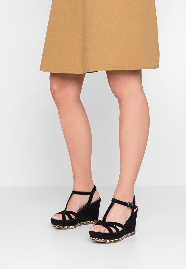MELISSA - High heeled sandals - black