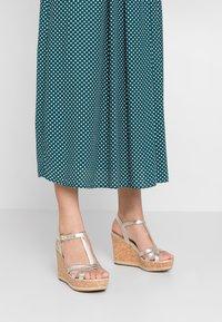 UGG - MELISSA METALLIC - High heeled sandals - gold - 0