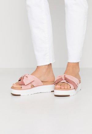 JOANIE - Heeled mules - light pink