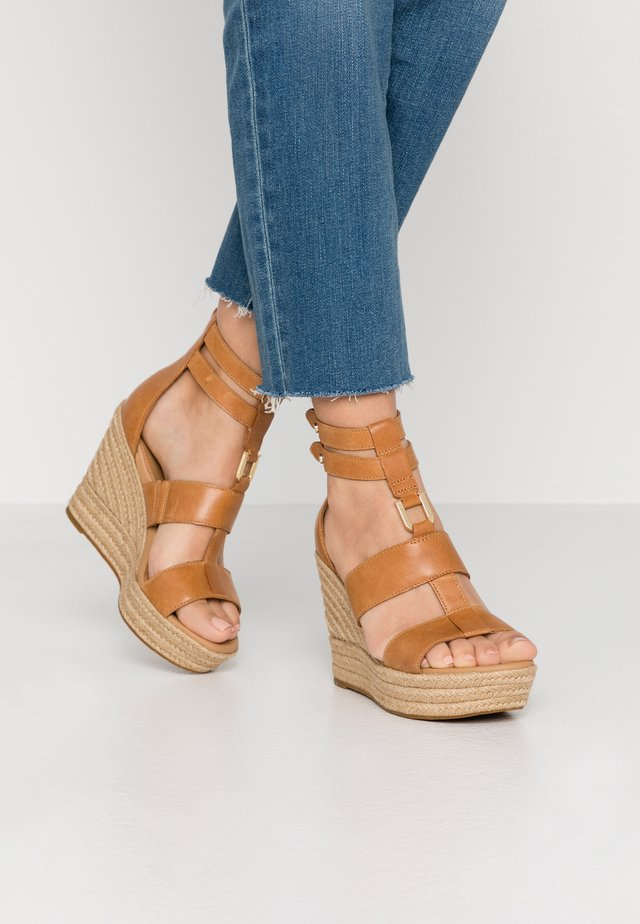 KOLFAX - High heeled sandals - almond