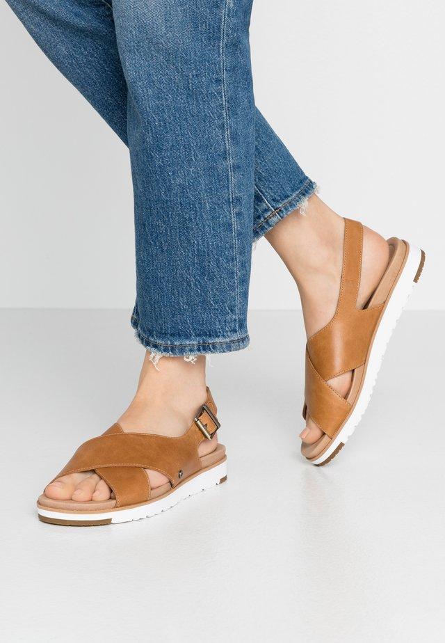 KAMILE - Sandals - almond