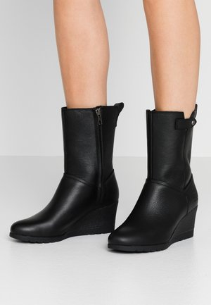 POTRERO - Wedge boots - black