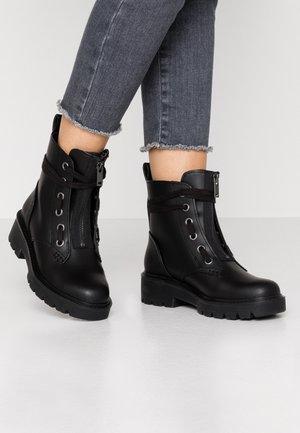 DAREN - Bottines à lacets - black