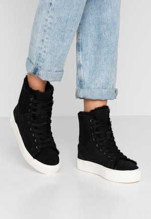 BEVEN - High-top trainers - black