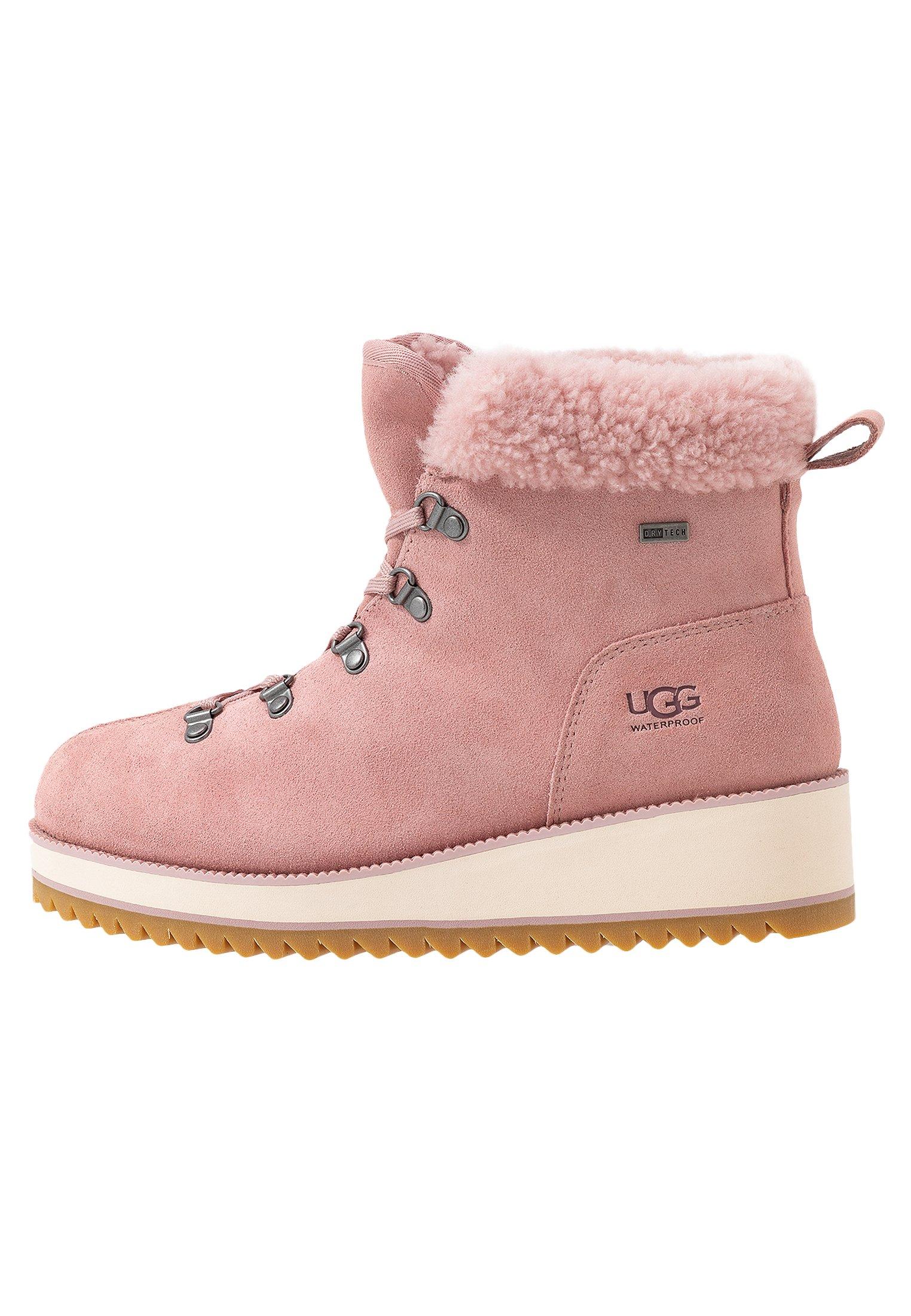 UGG BIRCH LACE-UP - Śniegowce - pink
