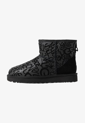 CLASSIC MINI SPARKLE GRAFFITI - Støvletter - black