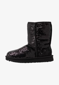 UGG - CLASSIC SHORT COSMOS SEQUIN - Classic ankle boots - black/gunmetal - 1