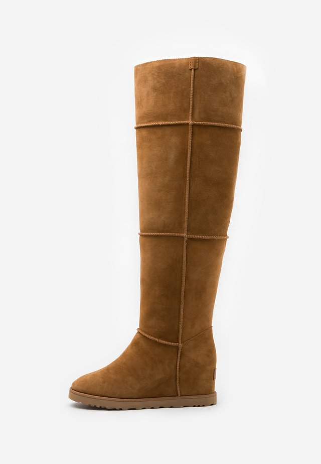CLASSIC FEMME  - Over-the-knee boots - chestnut