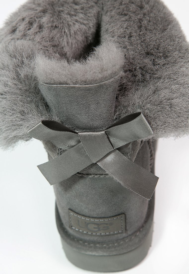 UGG MINI BAILEY BOW - Bottines - grey