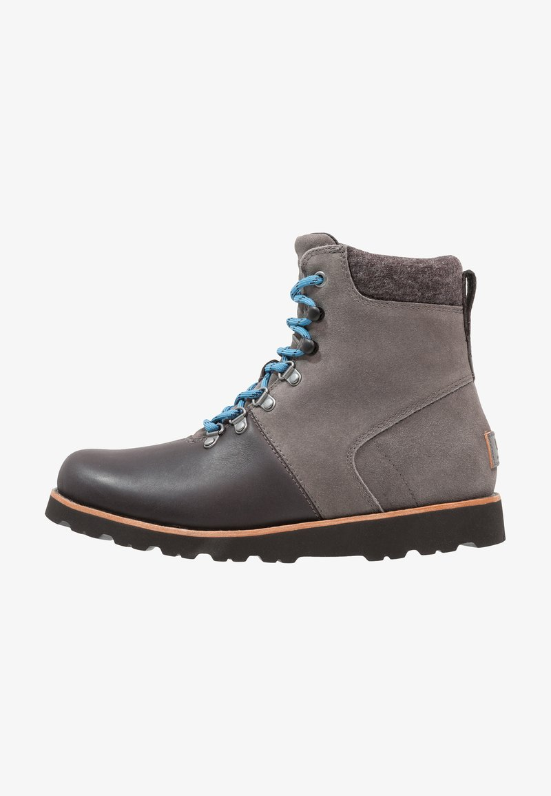 UGG - HALFDAN - Bottines à lacets - charcoal