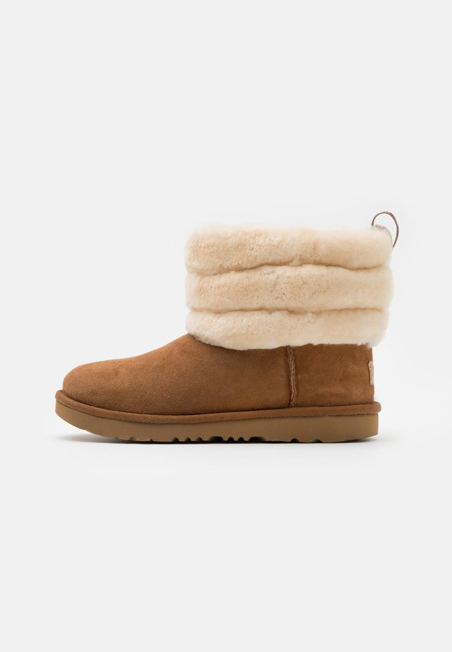 FLUFF MINI QUILTED - Classic ankle boots - chestnut