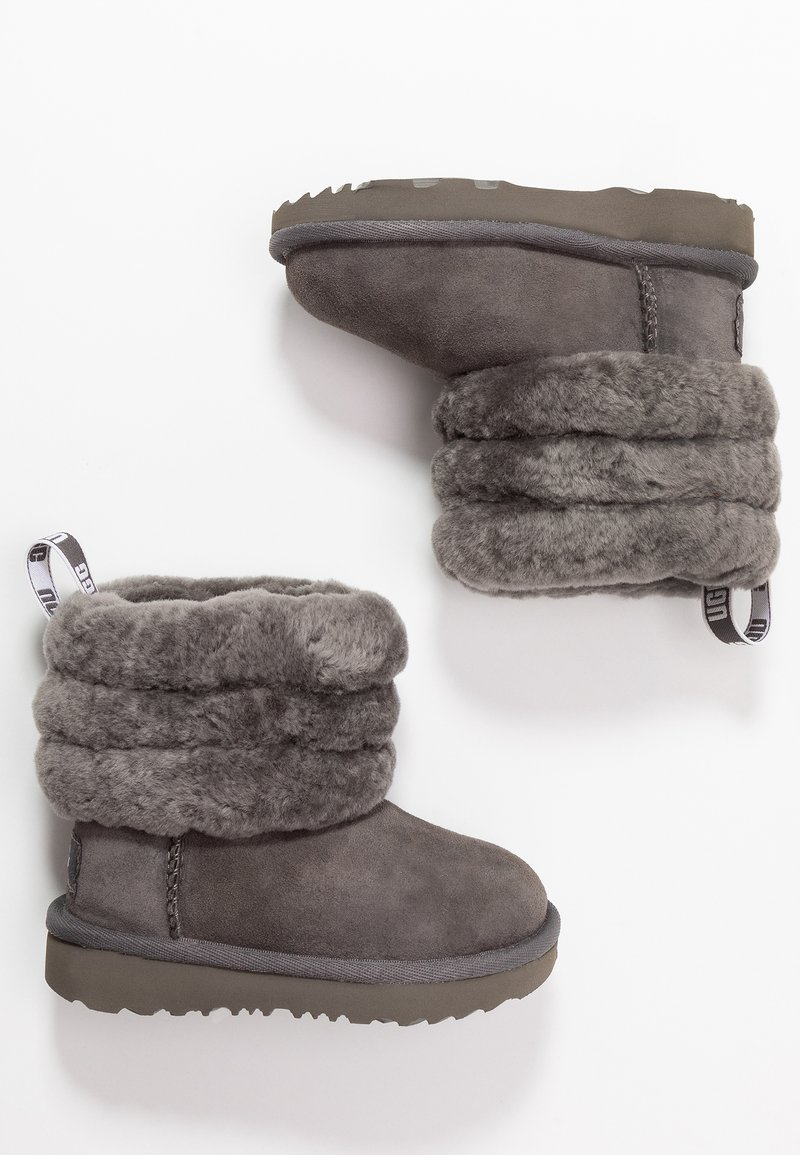 UGG - FLUFF MINI QUILTED - Nilkkurit - charcoal