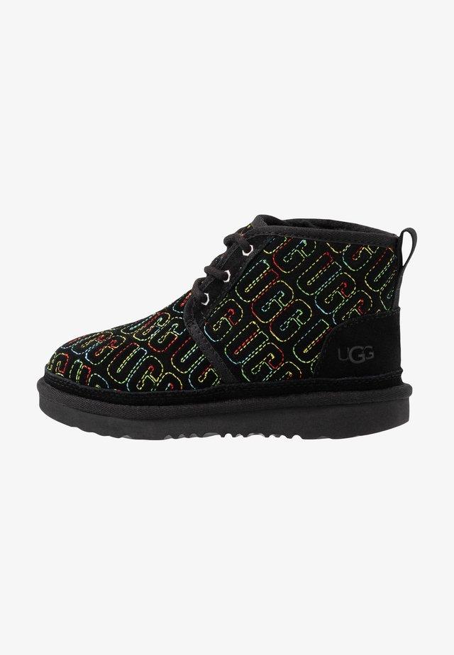 NEUMEL GRAPHIC STITCH - Lace-up ankle boots - black