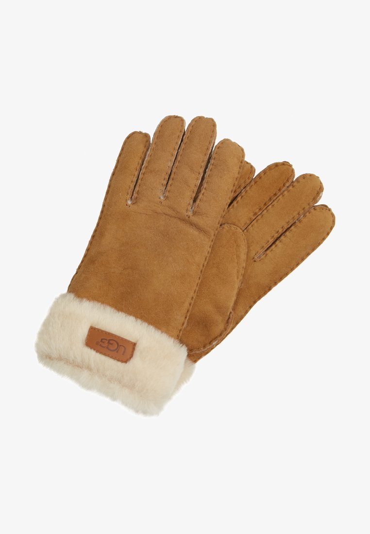 UGG - TURN CUFF GLOVE - Gloves - chestnut